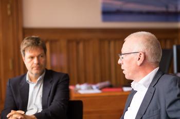 Robert Habeck, Frank Hornschu