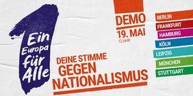 """Flyer Demo """"Ein Europa für Alle"""""""