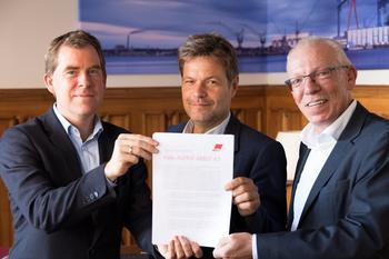 Kieler Aufruf Ulf Kämpfer, Robert Habck und Frank Hornschu